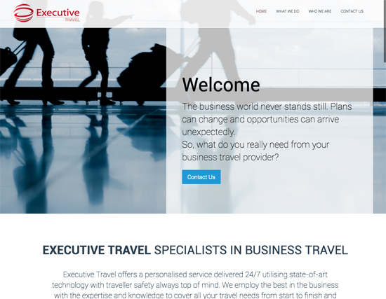 Executive Travel Website Development